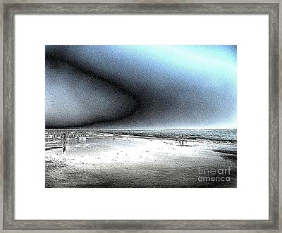 Steel Beach Framed Print