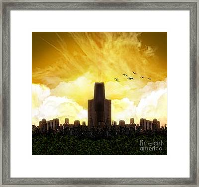 Steel City Dawn Framed Print