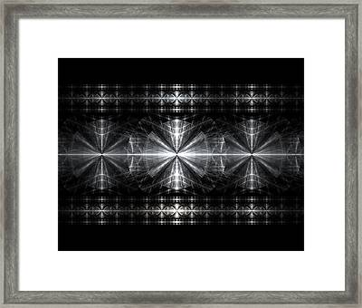 Steel Crosses  Framed Print by Kim French