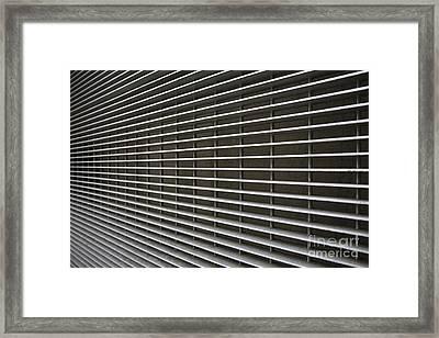 Steel Grating Framed Print