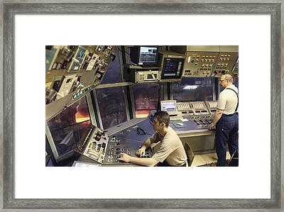 Steel Production Control Room Framed Print by Ria Novosti
