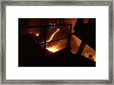 Steel Production Framed Print by Dirk Wiersma