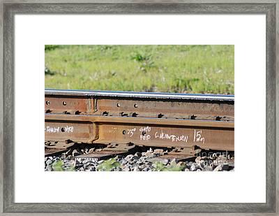 Steel Tracks Framed Print by Mark McReynolds