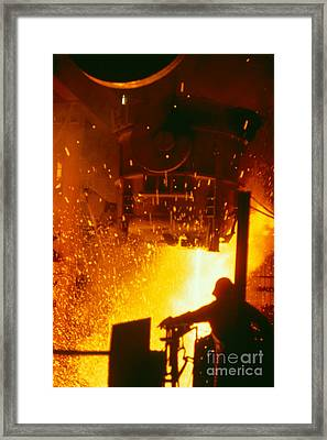 Steelworks Framed Print by U.S. Department of Energy