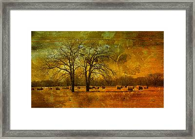 Steely Winter Skies Framed Print