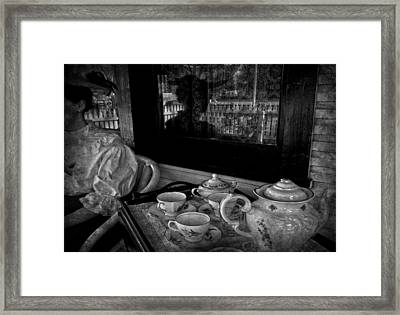 Steeped Tea Framed Print by Empty Wall