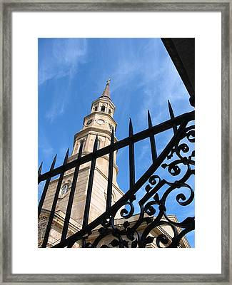 Framed Print featuring the photograph Steeples by Lyn Calahorrano