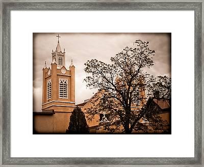 Albuquerque, New Mexico - Steeples Framed Print