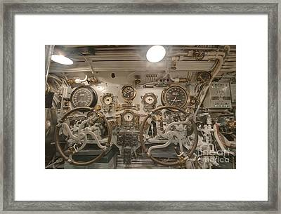 Steering Section On The Uss Bowfin Framed Print by Rob Tilley