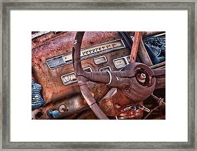 Steering Wheel Framed Print by Richard Steinberger