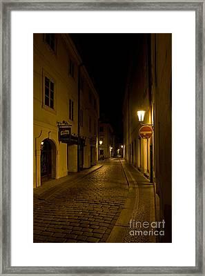 Steet In Prague Framed Print