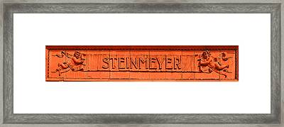 Steinmeyer Building Detail Framed Print by Geoff Strehlow