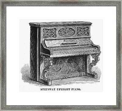 Steinway Piano, 1878 Framed Print by Granger