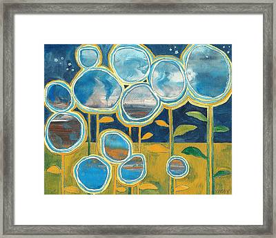 Framed Print featuring the painting Stella by Casey Rasmussen White