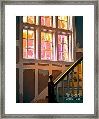 Step By Step Framed Print by Gwyn Newcombe