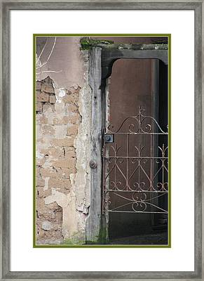 Step Into The Past Framed Print by Susan Alvaro