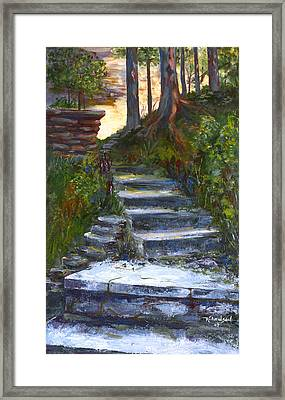 Step To The Light Framed Print