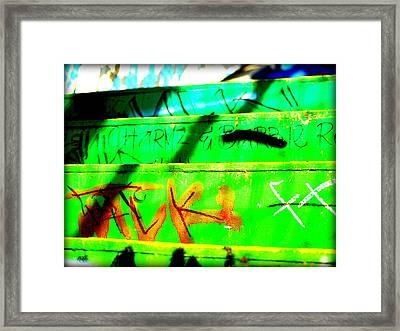 Step Up Framed Print by D Wash