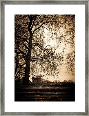 Step Up To The Little House Framed Print