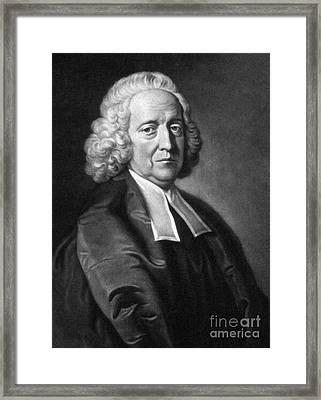 Stephen Hales, English Physiologist Framed Print