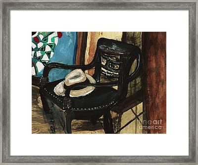 Stephen's Fedora Framed Print by Sandra Richardson