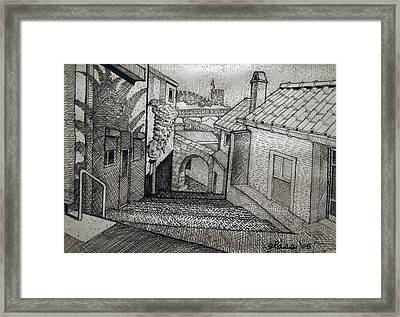 Stepped Ramp Porto Portugal Framed Print