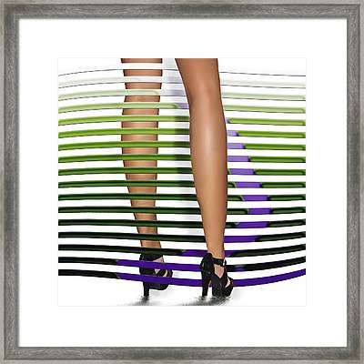 Steppin Out Framed Print