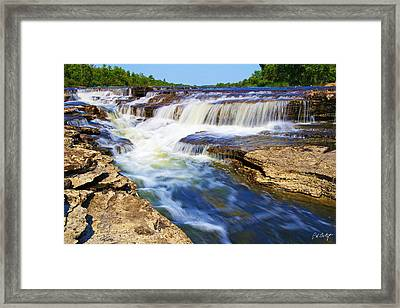 Stepping Back At The Falls Framed Print by Phill Doherty