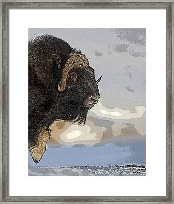 Stepping Into The Wind- Abstract Framed Print by Tim Grams