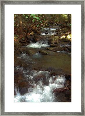 Stepping Stones Of The Mountains Framed Print