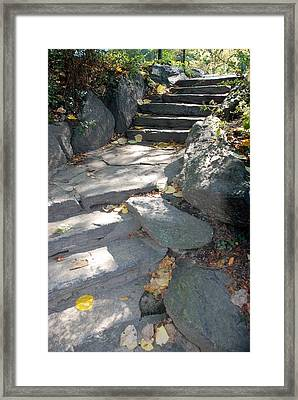 Stepping Stones Framed Print by Rob Hans
