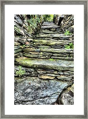 Stepping Through History Framed Print by JC Findley