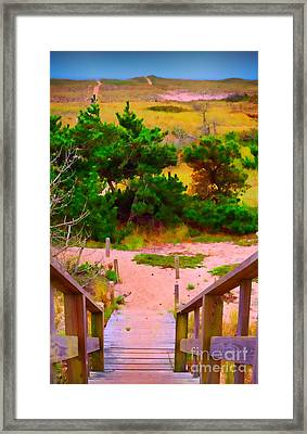 Framed Print featuring the photograph Steps - Surfside Beach by Jack Torcello