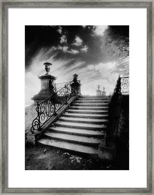 Steps At Chateau Vieux Framed Print by Simon Marsden