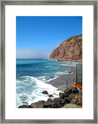 Framed Print featuring the photograph Steps To The Beach. Dana Point California by Connie Fox