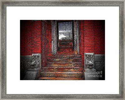 Steps To The Past Framed Print by Victor Sexton