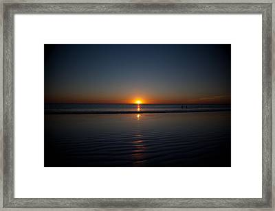 Steps To The Setting Sun Framed Print