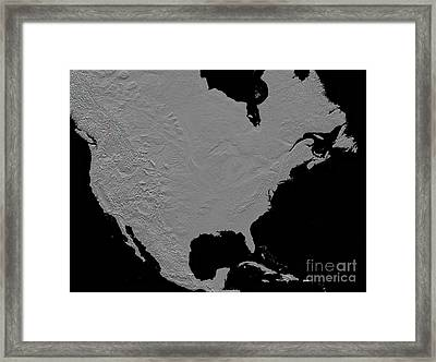 Stereoscopic View Of North America Framed Print