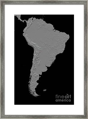 Stereoscopic View Of South America Framed Print