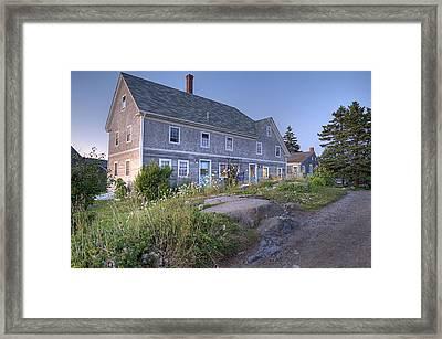 Sterling Harbor House Framed Print by J R Baldini Master Photographer