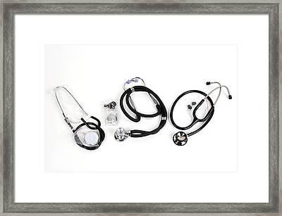 Stethoscopes Framed Print by Photostock-israel