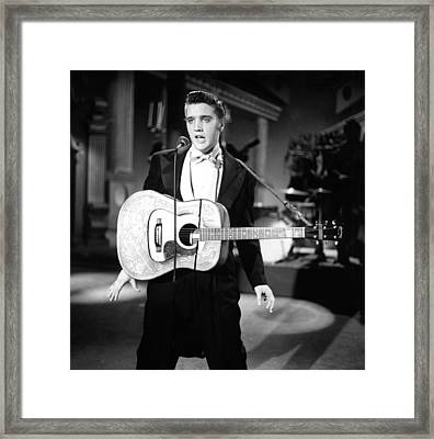 Steve Allen Show, 1956-61, Elvis Framed Print by Everett