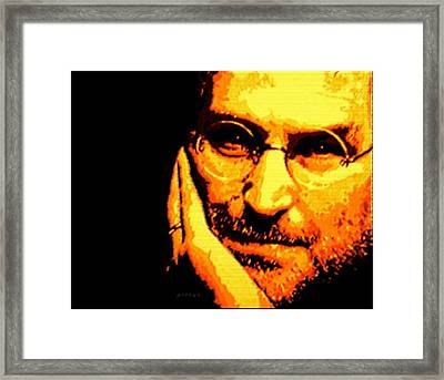 Steve Jobs Patience Framed Print