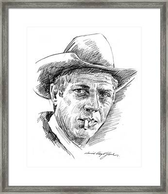 Steve Mcqueen Framed Print by David Lloyd Glover