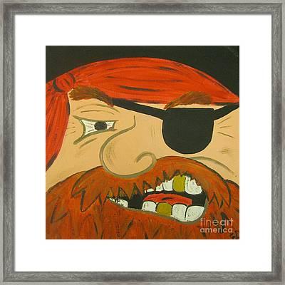 Steve The Pirate Framed Print by Eva  Dunham