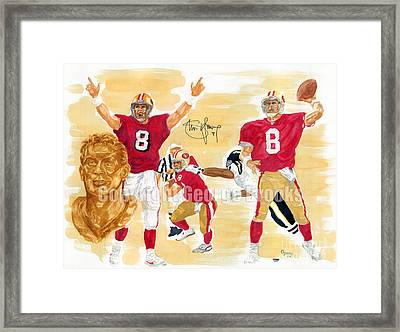 Steve Young - Hall Of Fame Framed Print