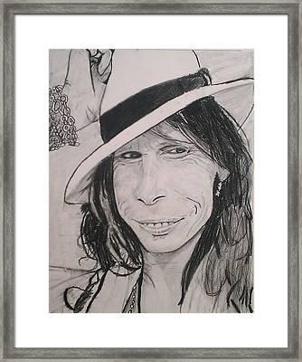 Steven Tyler Framed Print by Brittany Frye