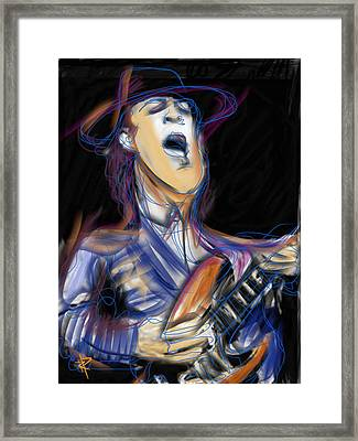 Stevie Ray Framed Print by Russell Pierce