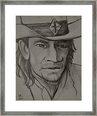 Stevie Ray Upclose Framed Print
