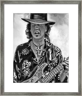 Stevie Ray Vaughan 1 Framed Print by Peter Chilelli